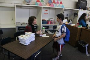 Jeanette Hanscome Book Signing with Student 2015